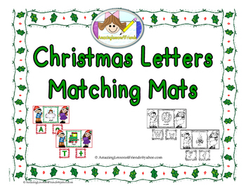 Christmas letters Matching Mats