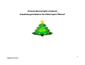 Christmas memory game - English and Spanish - Fun Christmas