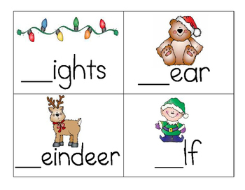 Christmas missing letters