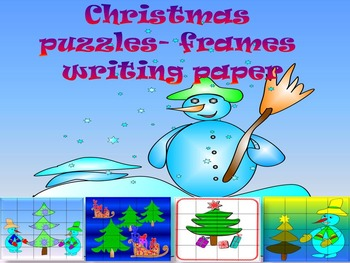 Winter Activities - Puzzles - Frames - Writing paper