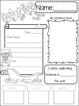 Christmas {{quick topics}} one interactive worksheet