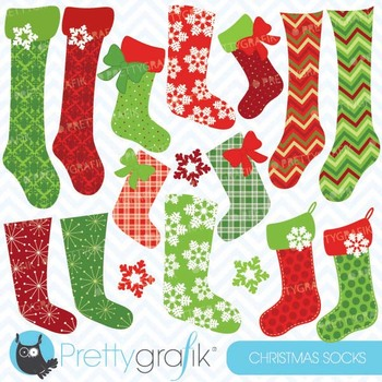 Christmas stockings clipart commercial use, vector graphic
