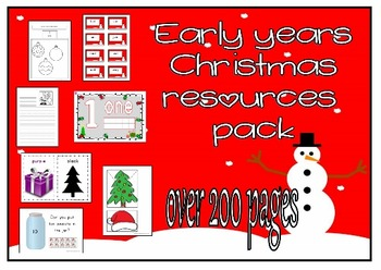 Christmas teaching bundle for prek, preschool, reception,