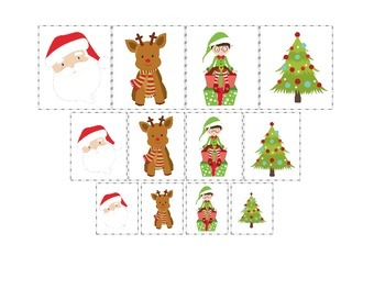 Christmas themed Size Sorting preschool learning activity.