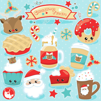 Christmas treats clipart commercial use, vector graphics,