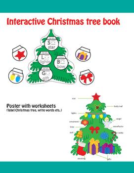 Christmas tree Activities (Interactive flip book, poster &