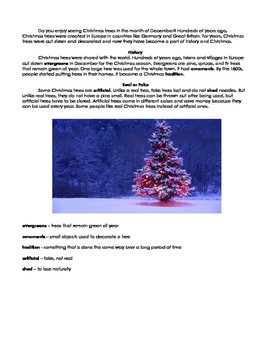 Christmas tree informational text