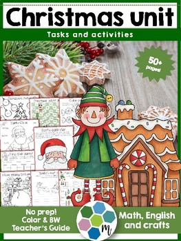 Christmas unit - activities, language, math, crafts and games!