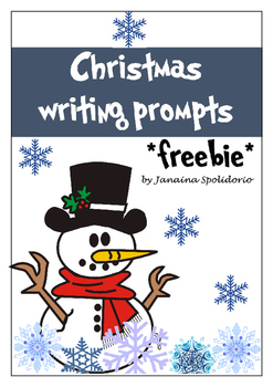 Christmas writing prompts - FREEBIE!