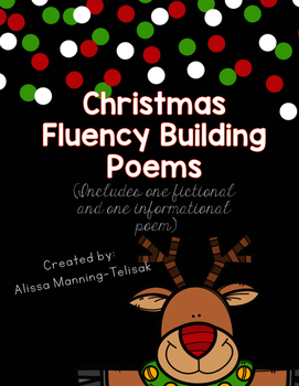 Christmas Fluency Building Poems Freebie