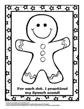 Christmas/Holiday Speech Dots - Articulation Craftivity fo