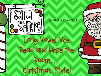 Long Vowel VCE Read and Write the Room...Christmas Style!