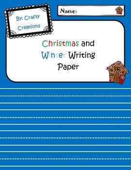 Christmas/Winter Writing Paper