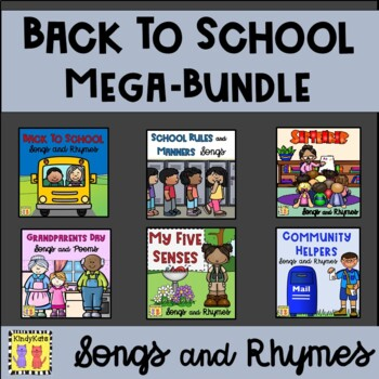 Songs & Rhymes MEGA-BUNDLE:  Rules, September, Community H
