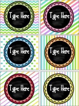 Editable Neon Labels