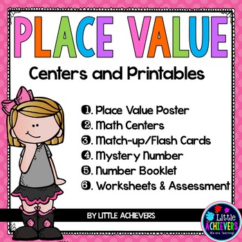 Place Value Worksheets and Games BUNDLE