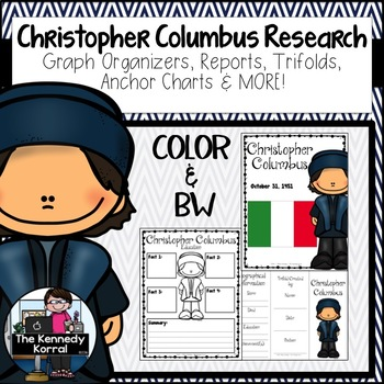 Christopher Columbus Biography Research Bundle {Report, Tr