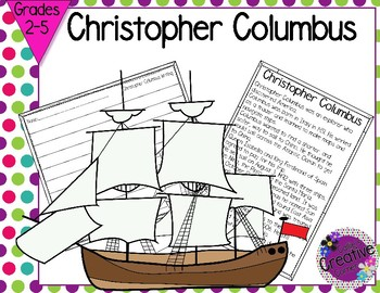 Christopher Columbus Graphic Organizer and Writing Paper