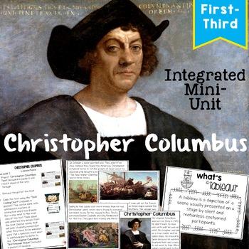 Christopher Columbus Close Read and Interactive Drama Grades 1-3