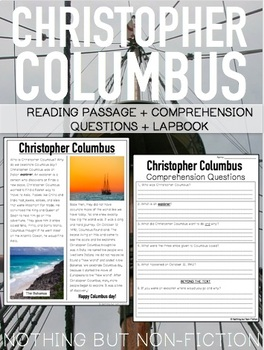 Christopher Columbus Passage and Lapbook ::FREEBIE::