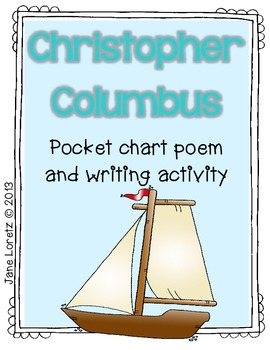 Christopher Columbus (Pocket chart poem and writing activity)