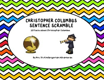 Christopher Columbus Sentence Scramble - 10 Facts about Ch