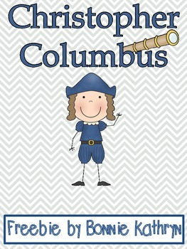Christopher Columbus Write the Room Freebie