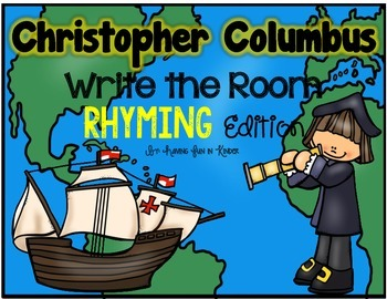 Christopher Columbus Write the Room - Rhyming Edition