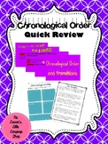 Chronological Order Quick Review