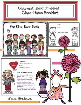 Chrysanthemum Inspired Class Name Booklet