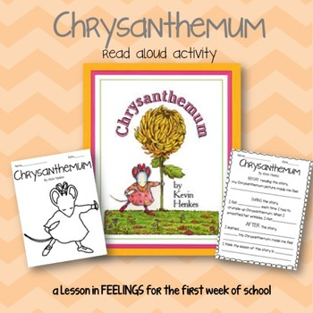 Chrysanthemum Read Aloud Activity {First Day of School}