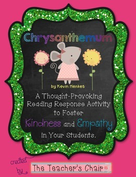 Chrysanthemum Reading Response Activities