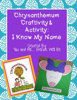 Chrysanthemum craftivity and Activity