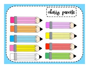 Chubby Pencils Clip Art