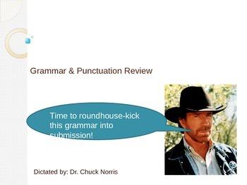 Chuck Norris common punctuation review