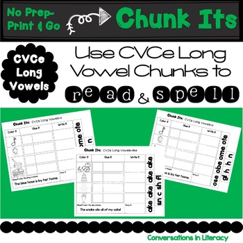 Chunk Its CVCe Long Vowel Making Words with Chunks of Sound