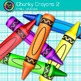 Rainbow Chunky Crayon Clip Art {Back to School Supplies fo