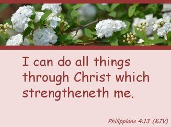 Church Set - Philippians 4:13