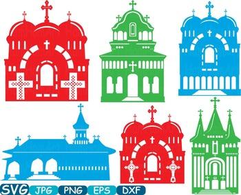 Church Silhouettes sticker buildings clipart religion Jesu