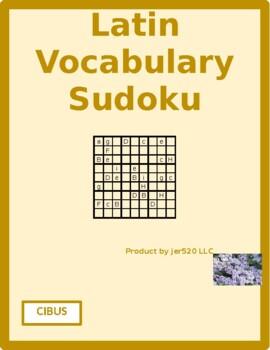 Cibus (Food in Latin) Sudoku