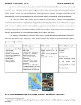 Cicero's In Catilinam II,4 - II,6 (Catilinarian Oration)