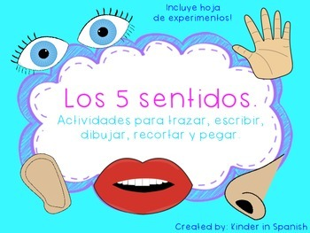 Ciencias Mis Cinco Sentidos en Espanol Five Senses Science