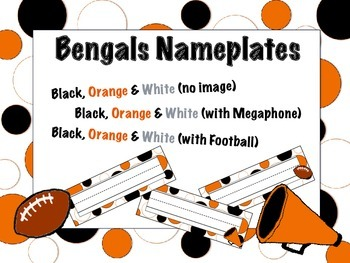 Cincinnati Bengals Themed Nameplates/Classroom Labels