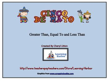 Cinco De Mayo Greater Than Less Than and Equal To