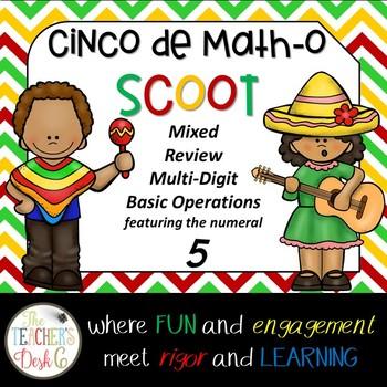 Cinco de Math-o SCOOT Multi-Digit Operations Featuring the
