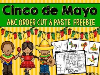 Cinco de Mayo ABC Order Cut and Paste Printable---FREEBIE