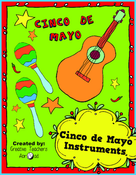 Cinco de Mayo Activity (Coloring Guitar & Maracas)