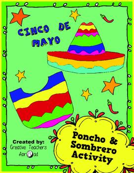 Cinco de Mayo Activity (Coloring Poncho & Sombrero)