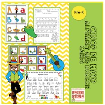 Cinco de Mayo Alphabet and Number Cards