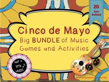 Cinco de Mayo--Big BUNDLE of 20 Music Games and Activities
